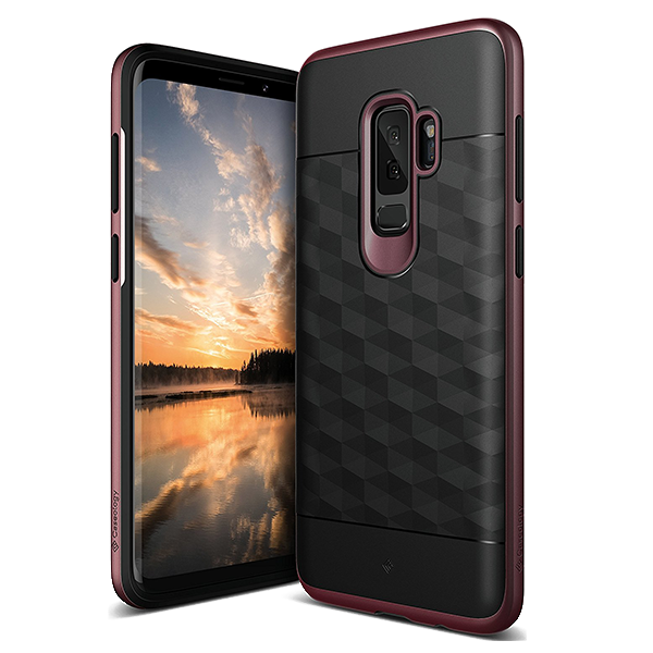 Чехол Caseology Parallax Series для Galaxy S9 Plus Black / Burgundy