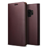Чехол-кошелёк VRS Design Genuine Leather для Galaxy S9 Wine