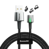 Baseus Zinc Magnetic Cable Kit(iP+Type-C+Micro)2m Black